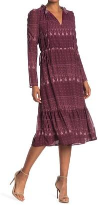 One One Six Keyhole Tie Elastic Waist Dress