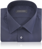 Forzieri Blue Pure Silk Dress Shirt