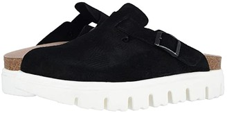 Birkenstock Boston Chunky (Black Suede) Women's Clog Shoes