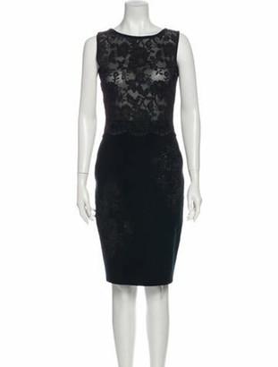Valentino Virgin Wool Knee-Length Dress Wool