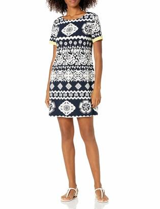 Tiana B T I A N A B. Women's Puff Print Short Sleeve Dress