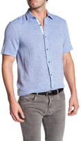 Report Collection Short Sleeve Textured Dobby Regular Fit Shirt