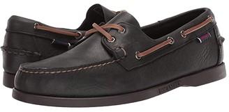 Sebago Docksides Portland Tumbled Matte (Black/Dark Brown) Men's Shoes