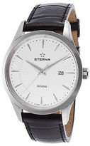 Eterna 2520-41-11-1258 Men's Artena Black Genuine Leather White Dial