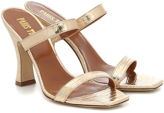 Paris Texas Croc-effect leather sandals