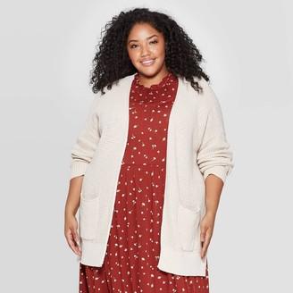 Universal Thread Women's Plus Size Side Slit Open Layered Cardigan - Universal ThreadTM