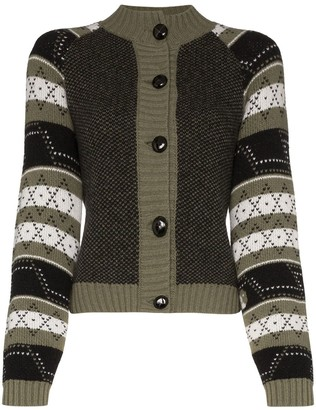Ganni patterned button-down cardigan