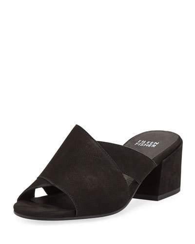 Matte Leather Slide Haven Crisscross Sandals eCdBxro