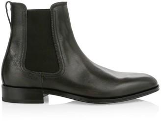 Salvatore Ferragamo Darien Leather Chelsea Boots