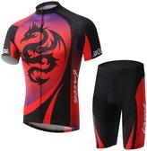 Summer Fashion Spoz Men Red Dragon Cycling Gel Pad S