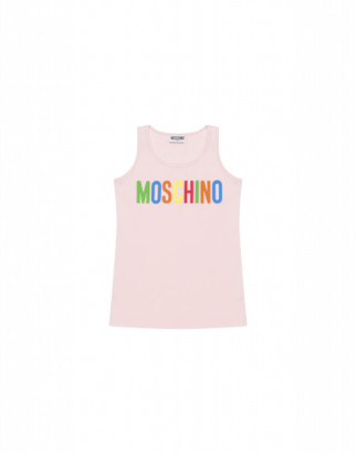 Moschino Multicolor Logo Tank Top Woman Pink Size 4a