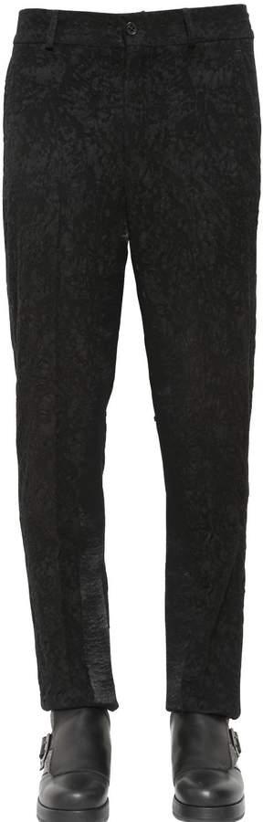 Damir Doma 20cm Devore Wool & Satin Pants