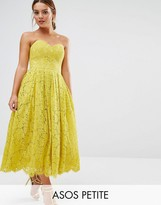 Asos Sweetheart Lace Bandeau Midi Dress