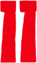 Ports 1961 ribbed arm-warmer gloves