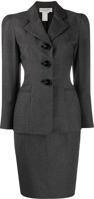 Christian Dior 1997 Pre-Owned Puffy Sleeves Skirt Suit