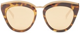Le Specs Eye Slay mirrored cat-eye sunglasses