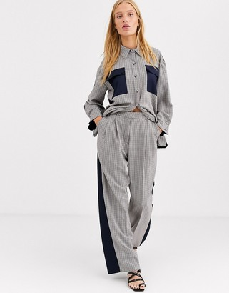 Asos mixed check two-piece pants
