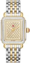 Michele Art of Deco Diamond Watch Head & Bracelet, 33mm x 35mm
