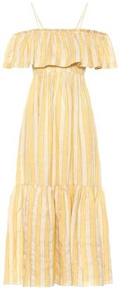 Three Graces London Ida off-the-shoulder maxi dress