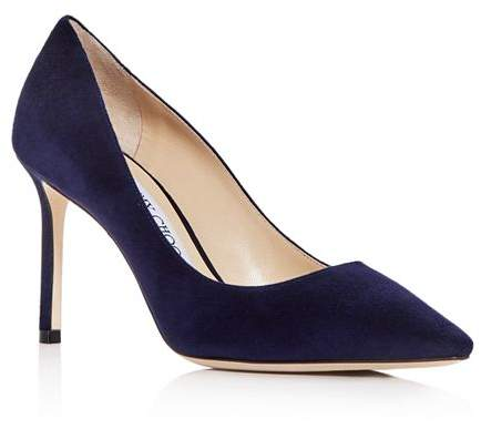 a6ef2e91da4e3 Navy Pointed Toe Pumps - ShopStyle