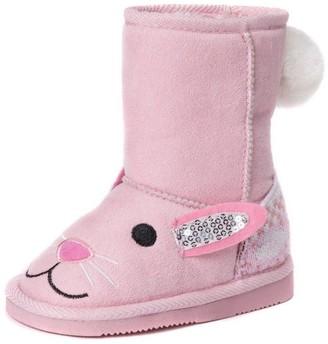 Muk Luks Girl's Bonnie Pink Bunny Boots Fashion 8 M US Little Kid