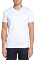 BOSS Men's Teal 14 Slim Fit Mercerized Cotton T-Shirt