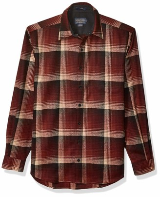 Pendleton Men's Lodge Classic Long Sleeve Button Front Wool Shirt