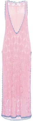J.W.Anderson CONTRASTED SEAM CROCHET DRESS
