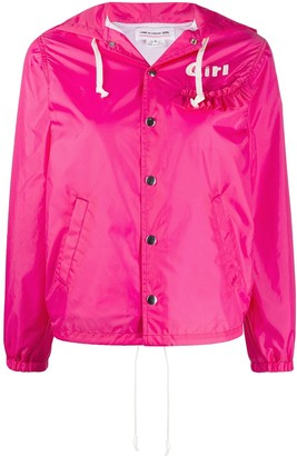 COMME DES GARÇONS GIRL Girl zip-through hooded jacket