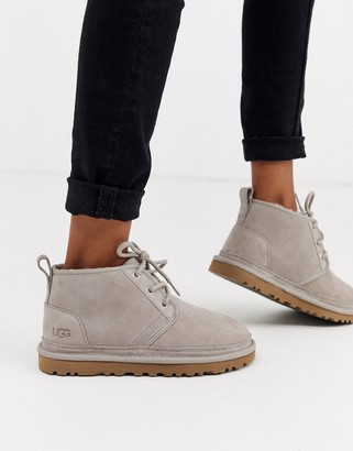 UGG Neumel Grey Lace Up Ankle Boots