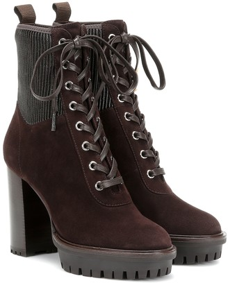 Gianvito Rossi Martis 70 suede ankle boots