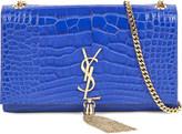 Saint Laurent Monogram alligator-leather shoulder bag