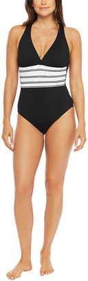 La Blanca Zig Zag Crossback One-Piece