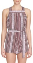 1 STATE 1.State Mixed Print Romper