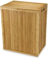 Household Essentials Folding Bamboo Hamper