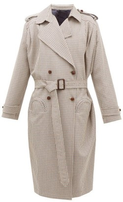 BLAZÉ MILANO Wait Houndstooth Wool-blend Coat - Brown Multi
