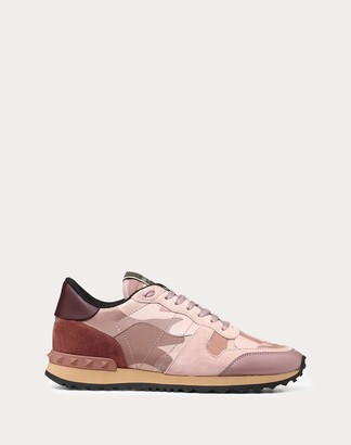 Valentino Camouflage Sneaker Women Multicolored Lambskin 50%, Cotton 30%, Polyester 20% 34.5
