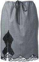 Alexander Wang lace trim skirt - women - Mohair/Wool - S