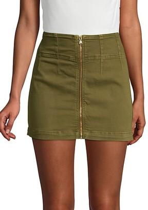 Free People Virgo Zip-Front Mini Skirt