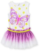 Baby Starters 2 Piece Butterfly Bodysuit & Tutu Skirt Set - White/Purple