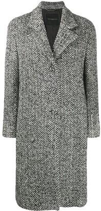 Ermanno Scervino Crystal Embellished Chevron coat