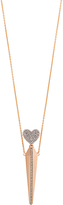 Diane Kordas Diamond & rose-gold Amulette necklace