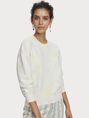 Scotch & Soda Tie-Dye Crew Neck Sweatshirt | Women