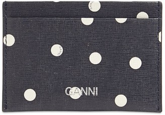 Ganni Printed Leather Card Holder