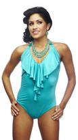 Nicolita Swimwear - Rumba Ruffles Blue One Piece Swimsuit