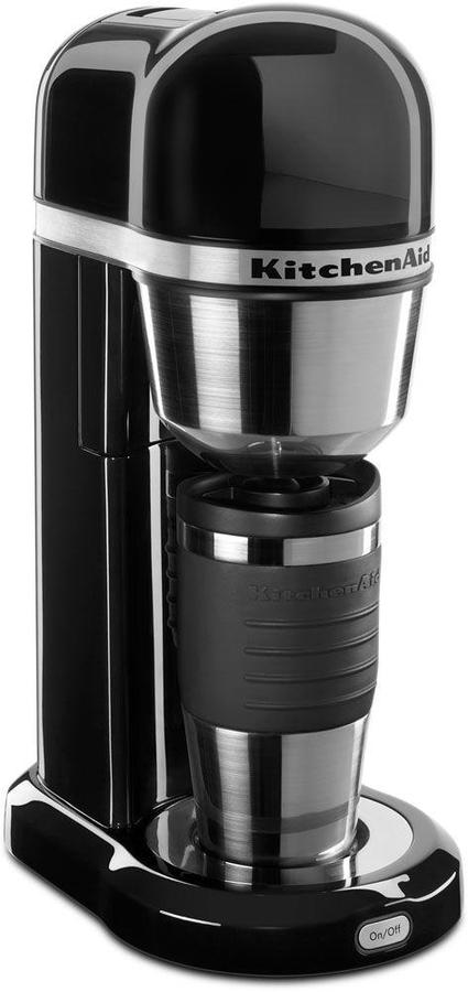 KitchenAid 4-Cup Coffee Maker with Multifunctional Thermal Mug in Empire Red