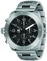 Vestal Men's RES001 Restrictor Silver and Chronograph Dive Watch