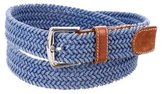 Loro Piana Leather-Trimmed Woven Belt