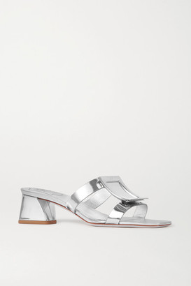 Roger Vivier Bikiviv' Embellished Metallic Leather Mules - Silver
