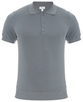 Brioni Short-sleeved Cotton And Silk-blend Polo Shirt